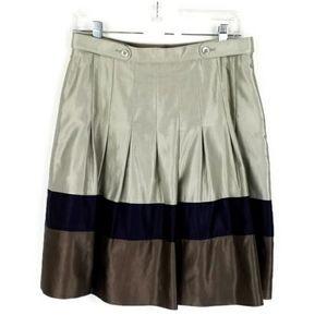 Ted Baker London Tri-Color Box Pleat Skirt